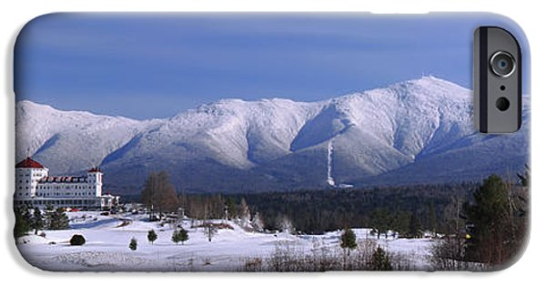 Recently Sold -  - New England Snow Scene iPhone Cases - The Classic Mount Washington Hotel Shot iPhone Case by Christopher Whiton