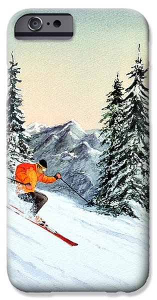 Skiing iPhone Cases - The Clear Leader iPhone Case by Bill Holkham