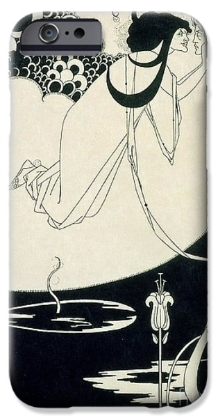 Pen And Ink Illustration iPhone Cases - The Climax iPhone Case by Aubrey Beardsley