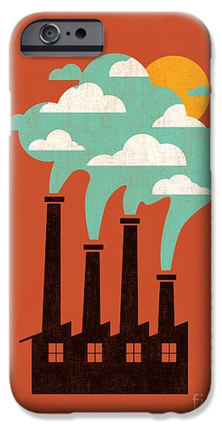 Clouds Digital Art iPhone Cases - The cloud factory iPhone Case by Budi Satria Kwan