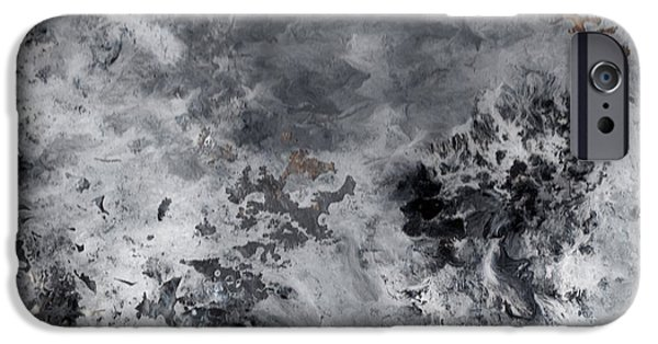 Paint Glass Art iPhone Cases - The Cloud iPhone Case by Patrick Morgan