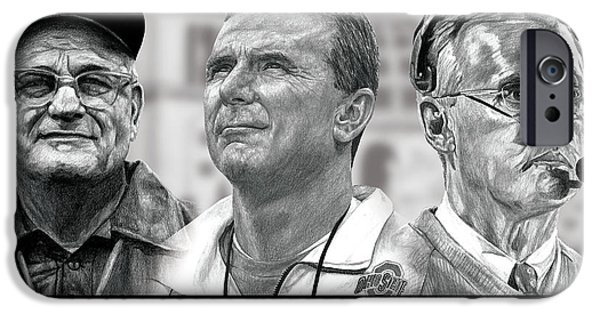 Graphite Drawing iPhone Cases - The Coaches iPhone Case by Bobby Shaw