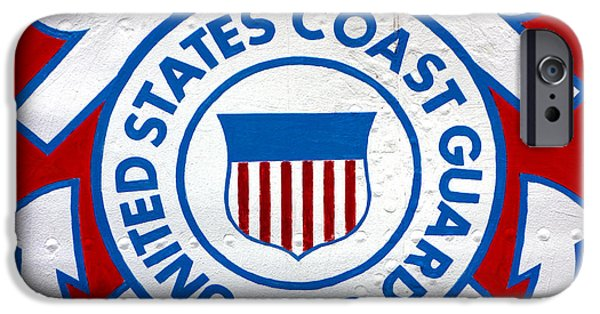 United iPhone Cases - The Coast Guard Shield iPhone Case by Olivier Le Queinec