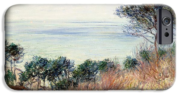 Reproduction iPhone Cases - The Coast of Varengeville iPhone Case by Claude Monet