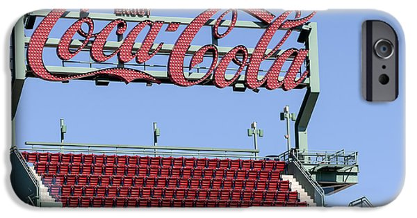 Fenway Park iPhone Cases - The Coca-Cola Corner iPhone Case by Susan Candelario