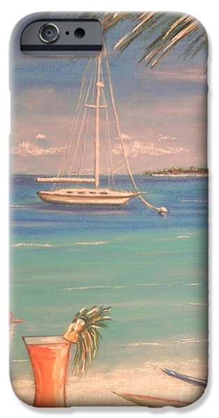 Beach Landscape Pastels iPhone Cases - The Cocktail Hour iPhone Case by The Beach  Dreamer