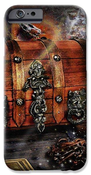 The coffer of spells iPhone Case by Alessandro Della Pietra