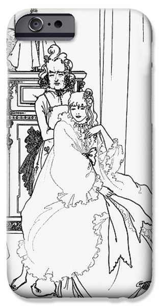 The Coiffing iPhone Case by Aubrey Beardsley