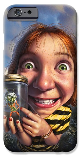Little Girl iPhone Cases - The Collector iPhone Case by Mark Fredrickson