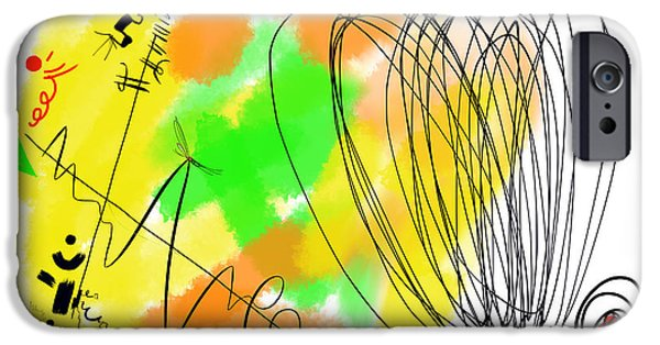 Abstract Digital Paintings iPhone Cases - The Color from The Windings of a Humbucker iPhone Case by Alex Retivov