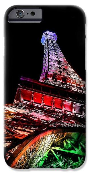 Paris Digital Art iPhone Cases - The Color Of Love iPhone Case by Az Jackson