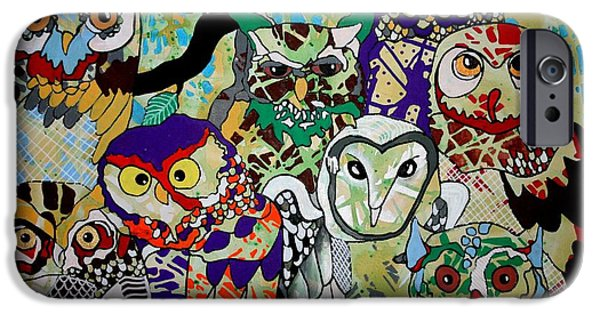 Recently Sold -  - Strange iPhone Cases - The Color of Owls iPhone Case by Amy Sorrell
