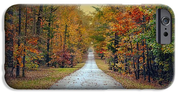 Autumn Scenes Photographs iPhone Cases - The Colors of Fall - Autumn Landscape iPhone Case by Jai Johnson