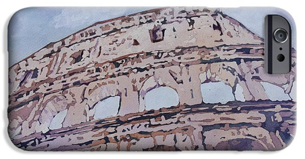 Ancient Paintings iPhone Cases - The Colossus  iPhone Case by Jenny Armitage