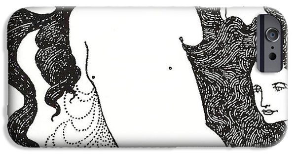 19th Century Drawings iPhone Cases - The Comedy of the Rhinegold iPhone Case by Aubrey Beardsley