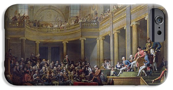 Election iPhone Cases - The Committee Of Lyon, 26th January 1802, 1808 Oil On Canvas iPhone Case by Nicolas Andre Monsiau