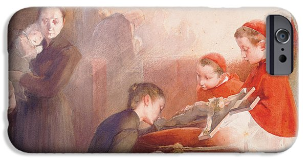 Young Paintings iPhone Cases - The Confirmation iPhone Case by Henri Jules Jean Geoffroy