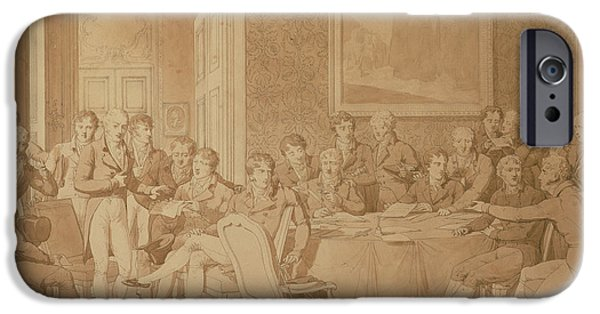 Group iPhone Cases - The Congress Of Vienna, 1815 Pencil & Wc See Also 217258 iPhone Case by Jean-Baptiste Isabey