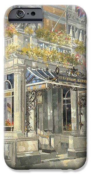 Lobby iPhone Cases - The Connaught Hotel, London Oil On Canvas iPhone Case by Peter Miller
