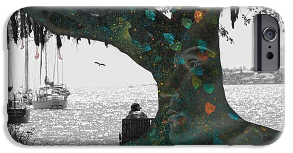 Sailboat Ocean iPhone Cases - The Conscious Tree iPhone Case by Betsy A  Cutler