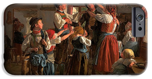 Young Paintings iPhone Cases - The Conscripts Farewell  iPhone Case by Ferdinand Waldmuller