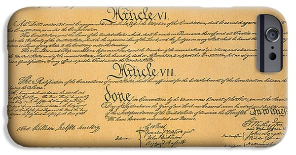 Constitution iPhone Cases - The Constitution, 1787 iPhone Case by Granger