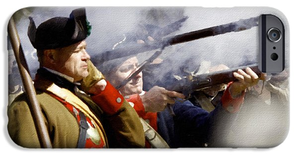American Revolution iPhone Cases - The Continental Line iPhone Case by Mark Miller