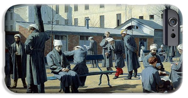 Hospital iPhone Cases - The Convalescents, 1861 Oil On Canvas iPhone Case by Marie Francois Firmin-Girard