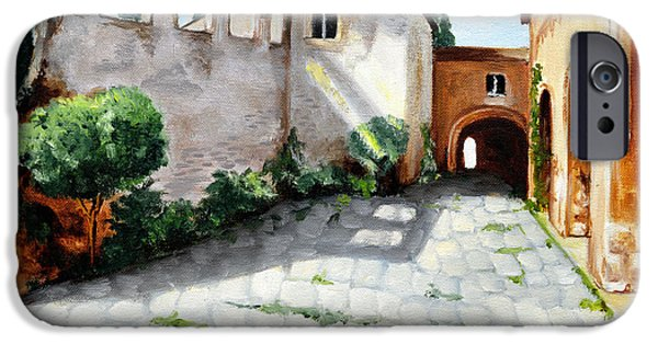 Village iPhone Cases - The convent - Il convento iPhone Case by Vanda Caminiti