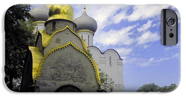 Russian Cross iPhone Cases - The Convent in Moscow - Russia iPhone Case by Madeline Ellis