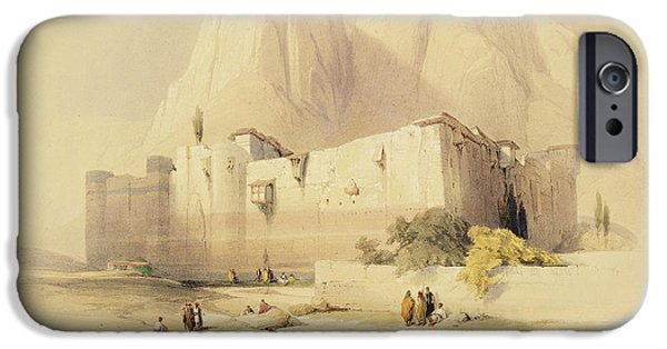 Remnant iPhone Cases - The Convent of St. Catherine iPhone Case by David Roberts