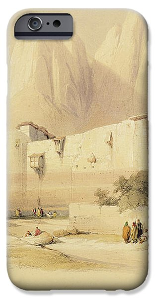 The Convent of St. Catherine iPhone Case by David Roberts