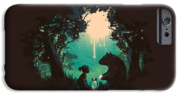 Night iPhone Cases - The Conversationalist iPhone Case by Budi Kwan