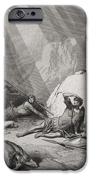 Christ Drawings iPhone Cases - The Conversion of St. Paul iPhone Case by Gustave Dore