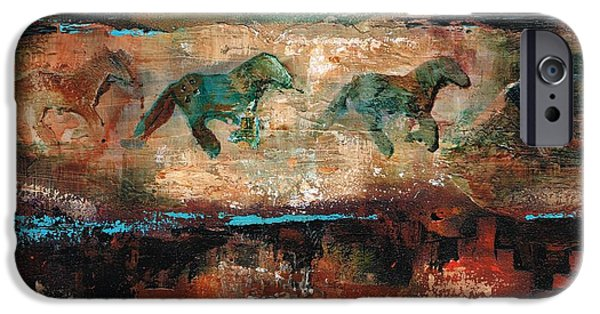 Art Of Horses iPhone Cases - The Cookie Jar iPhone Case by Frances Marino
