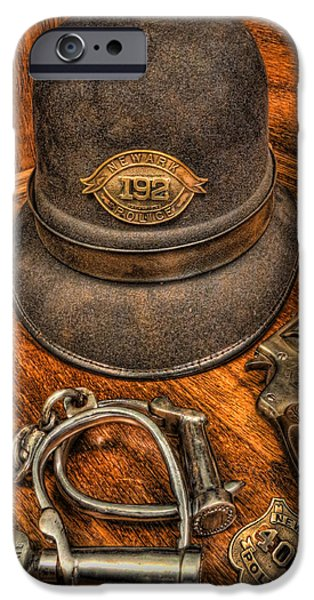 The Copper's Gear - Police Officer iPhone Case by Lee Dos Santos