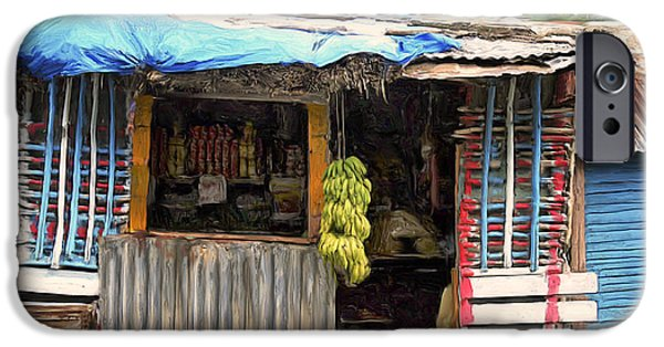 Caribbean Corner iPhone Cases - The Corner Market iPhone Case by Dominic Piperata