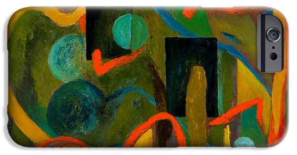 Cosmic Paintings iPhone Cases - The Cosmic Garden iPhone Case by Larry Martin