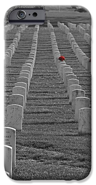 Cemetary iPhone Cases - The Cost of Freedom iPhone Case by Tom Gari Gallery-Three-Photography