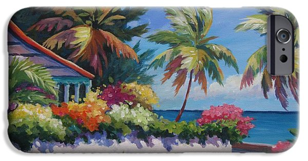 Bahamas iPhone Cases - The Cottage on the Corner iPhone Case by John Clark