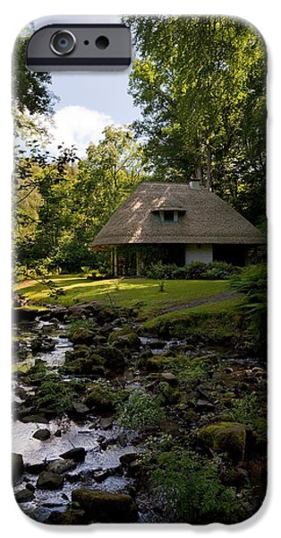 Reconstruction iPhone Cases - The Cottage Ornee Teahouse, Kilfane iPhone Case by Panoramic Images
