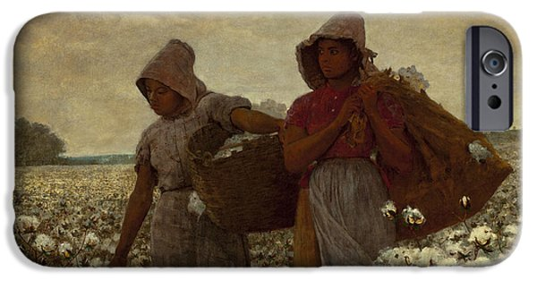 Vintage Images iPhone Cases - The Cotton Pickers iPhone Case by Winslow Homer