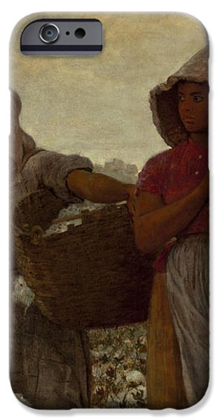 The Cotton Pickers iPhone Case by Winslow Homer