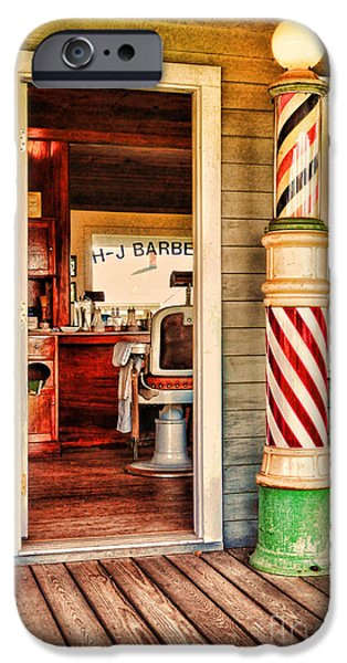 Barberchairs iPhone Cases - The Country Barber iPhone Case by Paul Ward