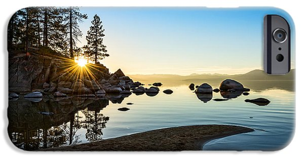 Rocks iPhone Cases - The Cove at Sand Harbor iPhone Case by Jamie Pham
