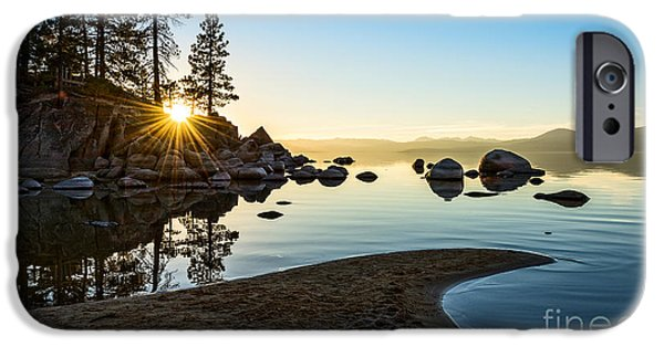 Rock Formation iPhone Cases - The Cove at Sand Harbor iPhone Case by Jamie Pham