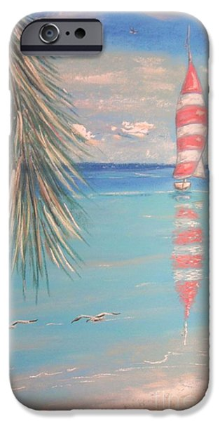 Sailing Pastels iPhone Cases - The Cove iPhone Case by The Beach  Dreamer