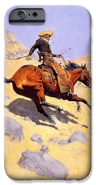 The Cowboy iPhone Cases - The Cowboy iPhone Case by Fredrick Remington