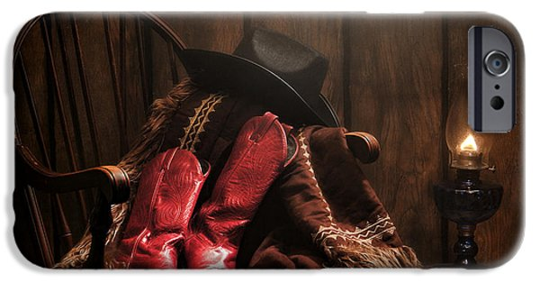 Cowgirl iPhone Cases - The Cowgirl Rest iPhone Case by Olivier Le Queinec