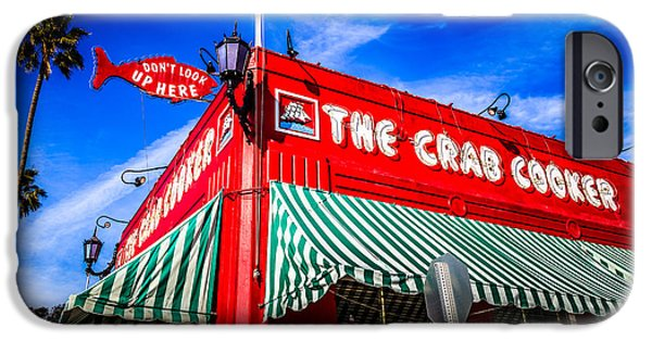 Orange County Photographs iPhone Cases - The Crab Cooker Newport Beach Photo iPhone Case by Paul Velgos
